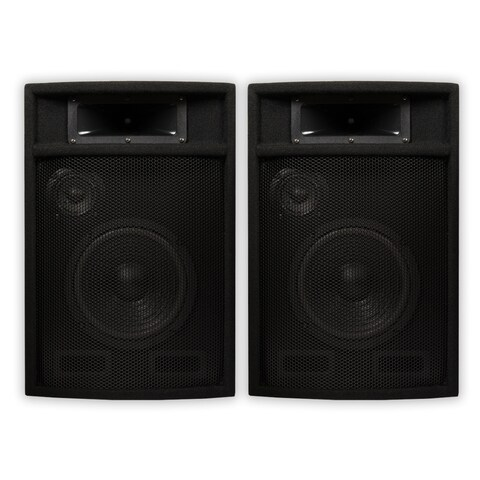 "Acoustic Audio PA-380X Passive DJ Speakers 8"" PA Karaoke 3-Way Studio Home Audio"