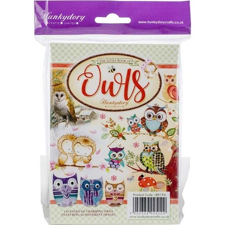 24 Designs//6 Each Hunkydory The Little Book Of A6 Paper Pad 144//Pkg-Owls