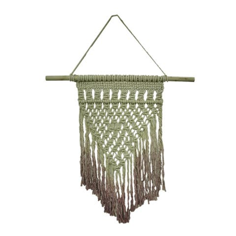 Hand Dyed Purple Boho Style Macrame Wall Hanging 43 X 30 Inches