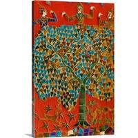 Premium Thick-Wrap Canvas entitled Mosaics in Wat Xieng Thong, Luang Prabang