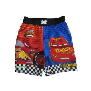 Disney Little Boys Blue Cars Swim Shorts