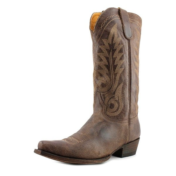 "Old Gringo Nevada 13"" Men Pointed Toe Leather Brown Western Boot"