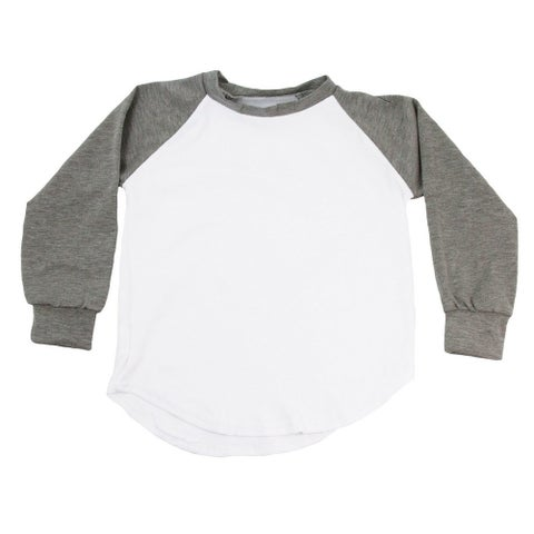 Unisex Baby Gray Two Tone Long Sleeve Raglan Baseball T-Shirt 6-12M