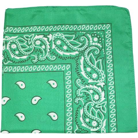 Set of 120 Mechaly Unisex Paisley 100% Polyester Double Sided Bandanas - Bulk Wholesale - One Size