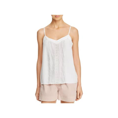 Ella Moss Womens Camisole Top Lace-Inset Layer