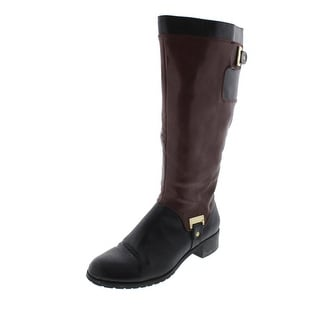 Bella Vita Womens Anya II Knee-High Colorblock Riding Boots
