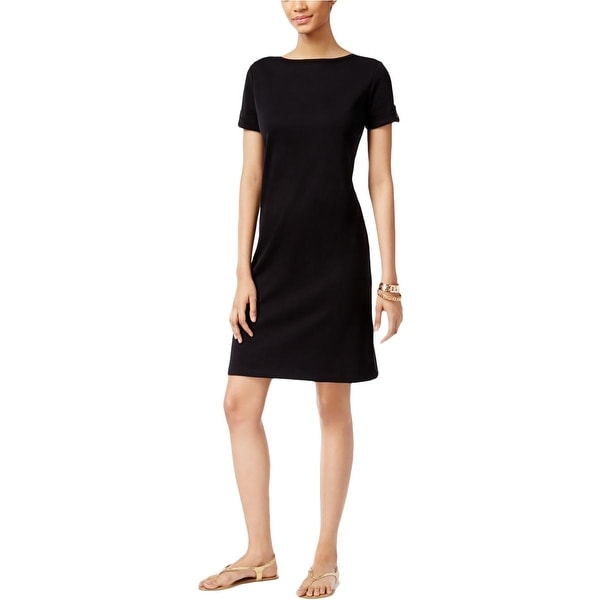 Karen Scott Womens T-Shirt Dress Short Sleeves Sheath