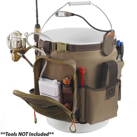 Wild River RIGGER 5 Gallon Bucket Organizer w/Light, Plier Holder & Retractable Lanyard