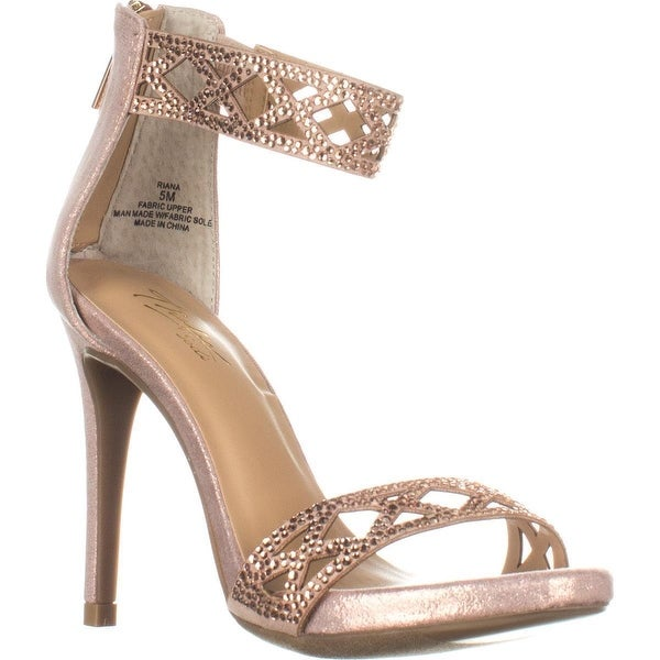 b1dd015a2c Shop TS35 Riana Ankle Strap Heels, Rose Gold - On Sale - Free ...