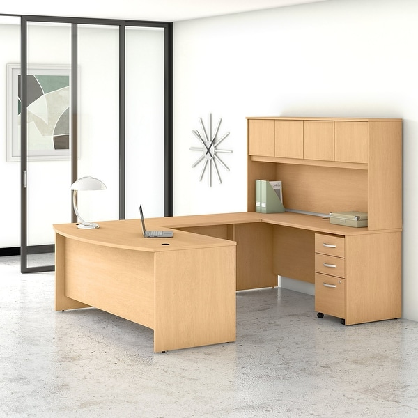 Studio C 72W U Desk with Hutch and Drawers by Bush Business Furniture. Opens flyout.