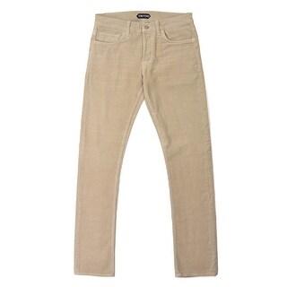 Tom Ford Brown Corduroy Selvedge Slim Fit Jeans - 32