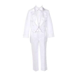Sweet Kids Little Boys White Tails Coat Shirt Bow Tie Pants Tuxedo Suit 12M-7