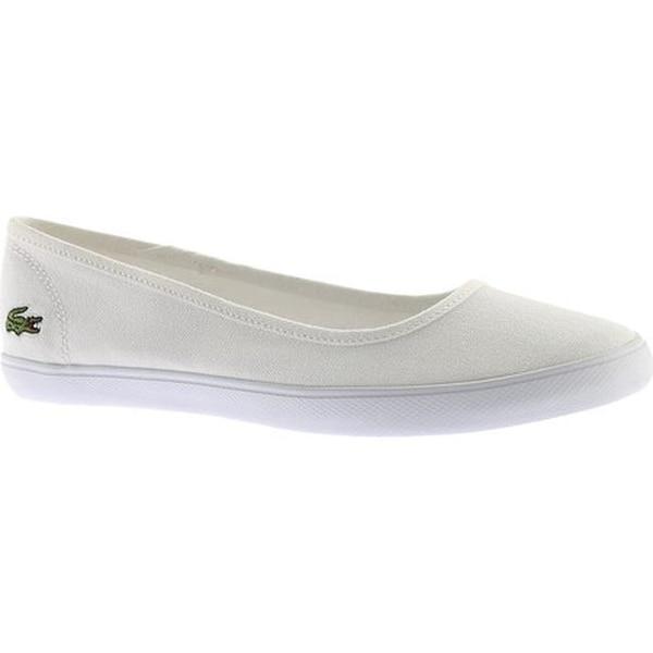 f142fbfea Shop Lacoste Women s Marthe BL 1 Ballet Flat White Canvas - On Sale ...
