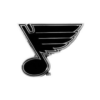 "NHL - St. Louis Blues Chrome Emblem - 2.5"" x 4"""