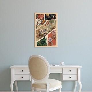 Easy Art Prints Ema Seizan's 'Japanese Textile Design V' Premium Canvas Art