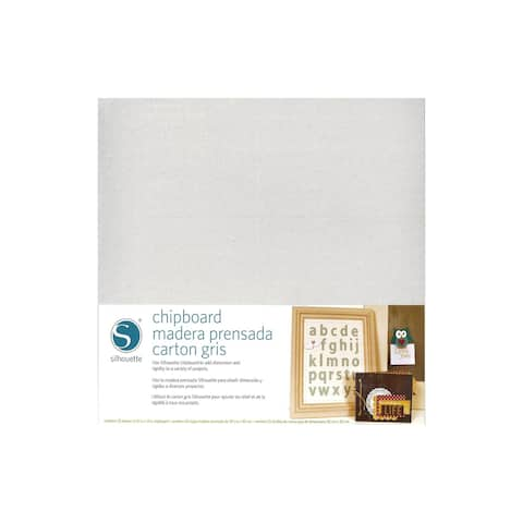 Media-chipboard-3t silhouette chipboard 12x12 grey