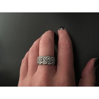 Icz Stonez Sterling Silver 3/4ct TGW Cubic Zirconia Braided Ring