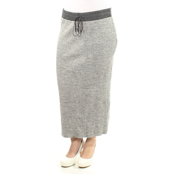 bb7fc95e5499b Shop DKNY Womens Gray Tie Maxi Pencil Skirt Size  M - On Sale - Free  Shipping Today - Overstock - 21306688