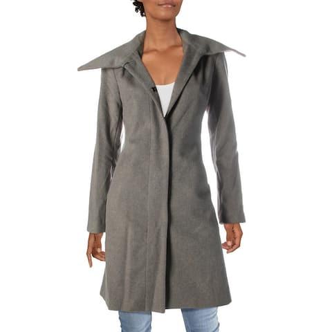 Cole Haan Womens Pea Coat Winter Wool Blend
