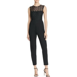 French Connection Womens Chelsea Jumpsuit Embroidered Textured