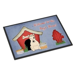Carolines Treasures BB2892MAT Dog House Collection Bull Terrier White Indoor or Outdoor Mat 18 x 0.25 x 27 in.
