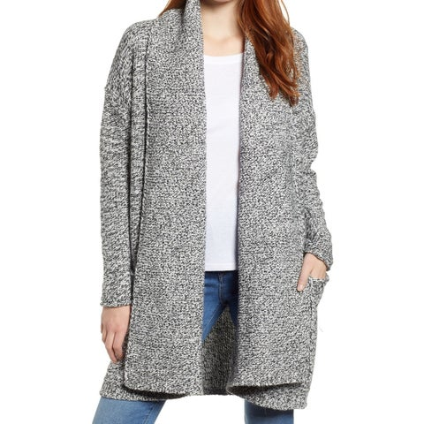 Caslon Gray Womens Size Medium M Shawl-Collar Cardigan Sweater