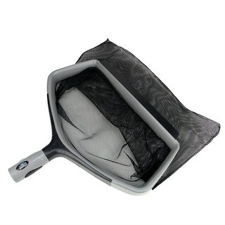 "17.5"" Gray and Black Swimming Pool Deep Bag Leaf Rake Skimmer Head"