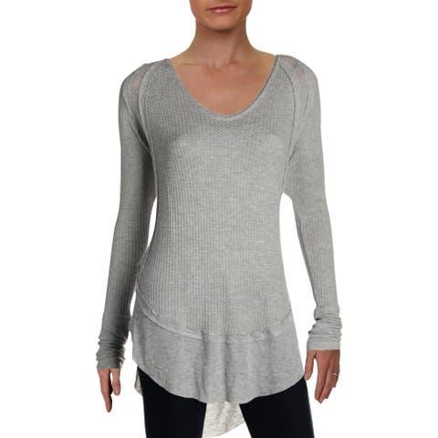 We The Free Womens Catalina Thermal Top Lightweight Pullover