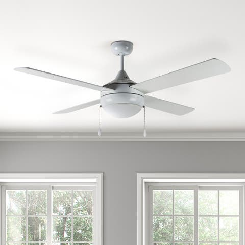"""Centurion 52"""" Indoor Integrated LED Ceiling Fan in White"""