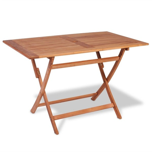 "vidaXL Teak Outdoor Dining Table 47.2""x27.6""x29.5"""