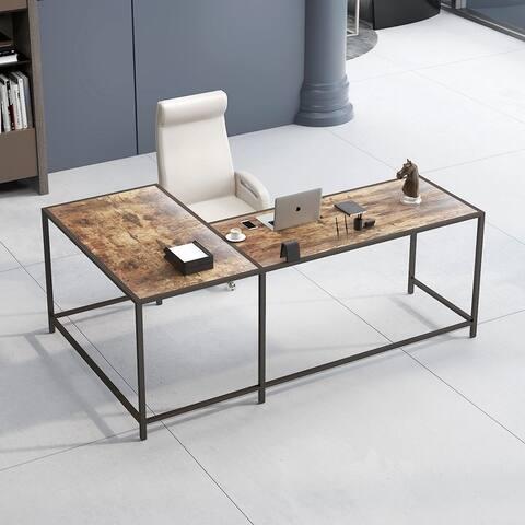L-shaped computer desk, Adjustable Home Writing Desk Table