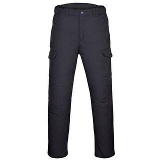 Men's Water-Repellent Softshell Fleece Lined Cargo Pants Outdoor