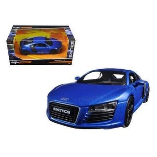 Audi R8 Satin Metallic Blue Exotics 1/24 Diecast Model Car by Maisto