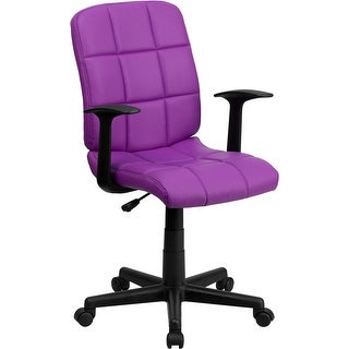 aberdeen midback purple quilted vinyl swivel homeoffice task chair warms