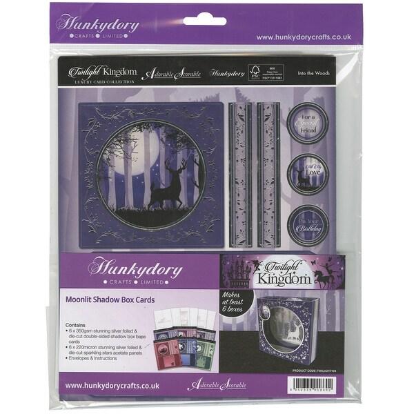 Hunkydory Twilight Kingdom A4 Shadow Box Card Kit-Moonlit, Makes 6
