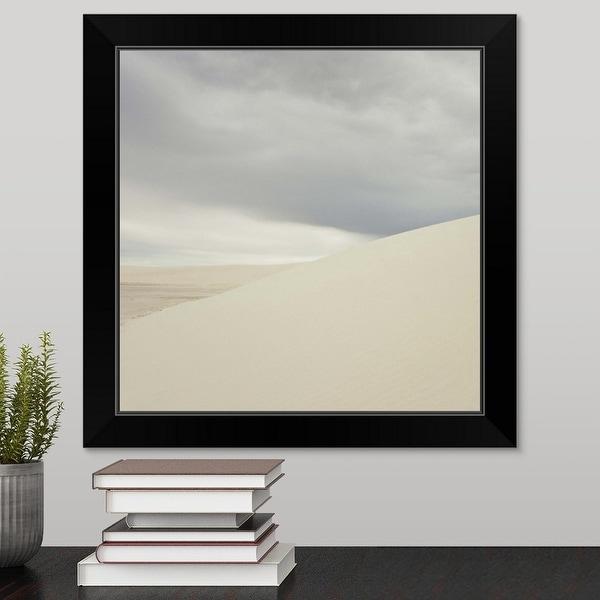 """Sand dunes"" Black Framed Print"