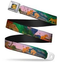 Simba Full Color Lion King Simba & Nala Growing Up Scenes Webbing Seatbelt Seatbelt Belt