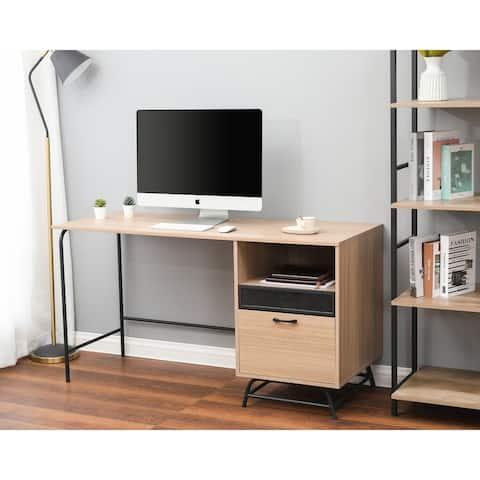 Light Oak Finish Home Office Desk