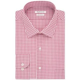 Van Heusen Mens Dress Shirt Checkered Wrinkle Free