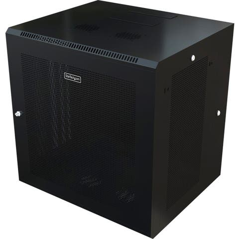 Startech.com rk1224walhm use this wall mount network cabinet to mount your server or networking equipment - Black