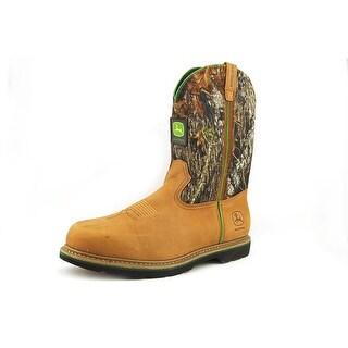 John Deere Jd4148 Men W Steel Toe Leather Tan Work Boot