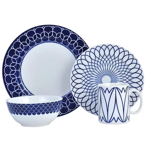 Mikasa Lavina Cobalt 16-pc. Porcelain Dinnerware Set