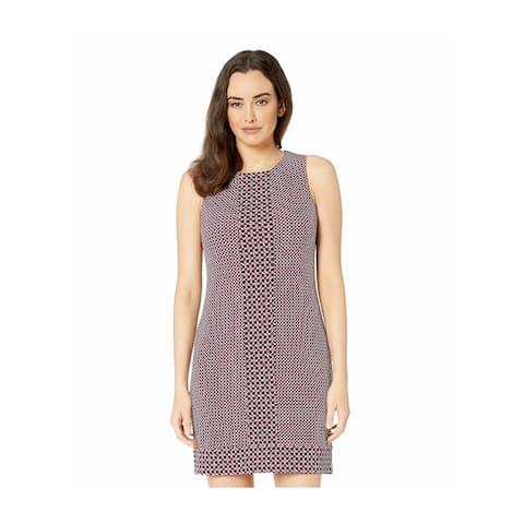 MICHAEL KORS Purple Sleeveless Above The Knee Shift Dress Size S