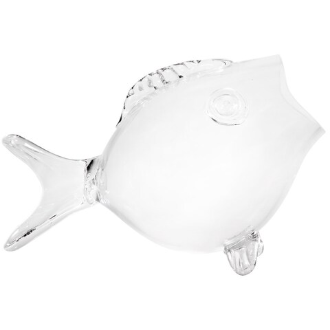 Clear Fish Bowl - Clear Fish Shaped Bowl 16.5 Large