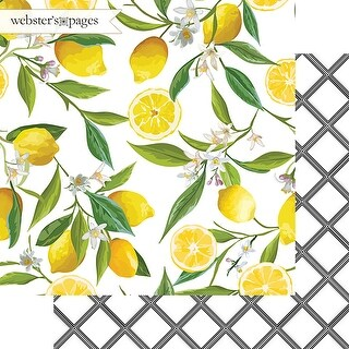 "Lemon Squeeze - The Good Life Double-Sided Cardstock 12""X12"" (25/pack)"