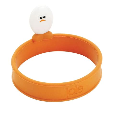 """Joie 3.5"""" Non-Stick Eggy Roundy Silicone Egg Ring with Handle"""