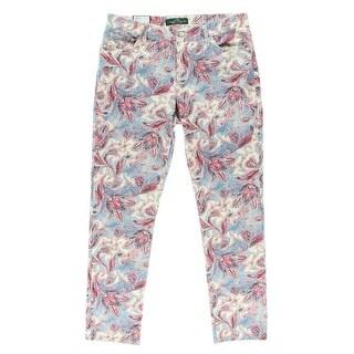 LRL Lauren Jeans Co. Womens Straight Leg Jeans Paisley High Waist - 2