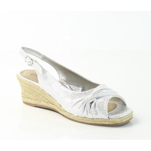 Bella Vita NEW White Women Shoes Size 6.5N Sangria Slingback Wedge
