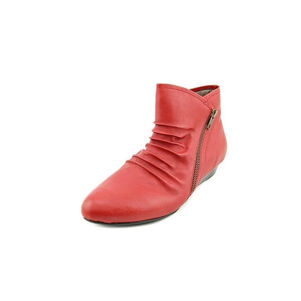 Array Cheyenne Women W Round Toe Leather Red Ankle Boot