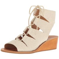 Lucky Brand Womens Gizi Leather Peep Toe Casual Platform Sandals